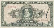 100 Mil Réis (1932 Revolution Bonus; 1st print) – obverse