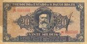 20 Mil Réis (1932 Revolution Bonus; 1st print) – obverse