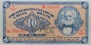 10 Mil Réis (1932 Revolution Bonus; 2nd print) -  obverse