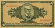 200 Mil Réis (1932 Revolution Bonus; 2nd print) -  obverse