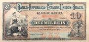 10 Mil Réis (Banco da República dos Estados Unidos do Brazil; 1st print) -  obverse