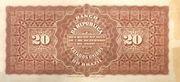 20 Mil Réis (Banco da República dos Estados Unidos do Brazil; 1st print) – reverse