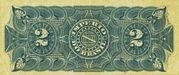 2 Mil Réis (Thesouro Nacional; 6th print) -  reverse