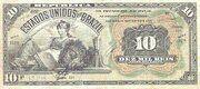 10 Mil Réis (Tesouro Nacional; 11ª Estampa) (1907) – obverse