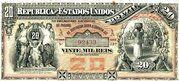 20 Mil Réis (Tesouro Nacional; 8ª Estampa) (1890) – obverse