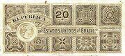 20 Mil Réis (Tesouro Nacional; 8ª Estampa) (1890) – reverse