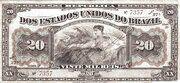 20 Mil Réis (Tesouro Nacional; 13ª Estampa) (1911) – obverse