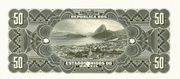 50 Mil Réis (Tesouro Nacional; 11ª Estampa) (1908) – reverse