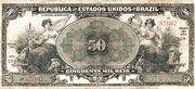 50 Mil Réis (Tesouro Nacional; 14ª Estampa) (1916) – obverse