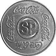 Vending Machine Token - Coca-Cola (SP - São Paulo, São Paulo; unifacial acronym) – obverse