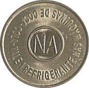 Vending Machine Token - Coca-Cola (NA - Natal, Rio Grande do Norte) – reverse