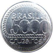5000 Cruzeiros (200th anniversary of Tiradentes' death) -  reverse