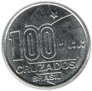 100 Cruzados (Abolition of Slavery, man) – reverse