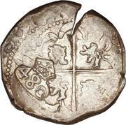 480 Réis - João IV (Countermarked 8 Reales) – reverse
