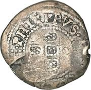 75 Réis - Alfonso VI (Countermarked 1 Real) – obverse