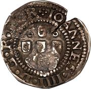 75 Réis - João IV (Countermarked ½ Tostão) – obverse