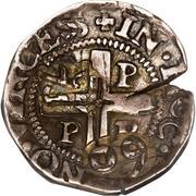 75 Réis - João IV (Countermarked ½ Tostão) – reverse