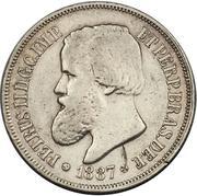 500 Réis - Pedro II -  obverse