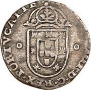 125 Réis - João IV (Countermarked 1 Tostão) – obverse