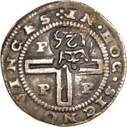 125 Réis - João IV (Countermarked 1 Tostão) – reverse