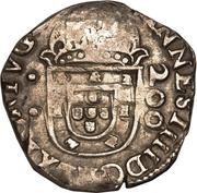 250 Réis - João IV (Countermarked 200 Réis) – obverse