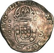 500 Réis - João IV (Countermarked 1 Cruzado) – obverse