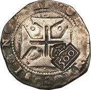 500 Réis - João IV (Countermarked 1 Cruzado) – reverse