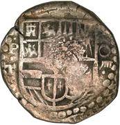 600 Réis - Alfonso VI (Countermarked 8 Reales) – obverse