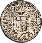 80 Réis - Pedro II (large crown) – obverse