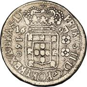 160 Réis - Pedro II (narrow crown) – obverse