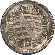 320 Réis - Pedro II (narrow crown) – reverse