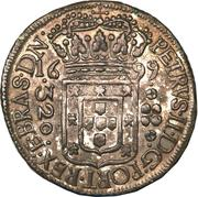 320 Réis - Pedro II – obverse