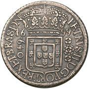 640 Réis - Pedro II – obverse