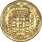 2000 Réis - Pedro II -  obverse