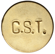 300 Réis (Colonia Santa Teresa; Leprosarium Coinage) – reverse