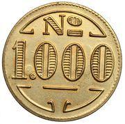 1000 Réis (Colonia Santa Teresa; Leprosarium Coinage) – obverse