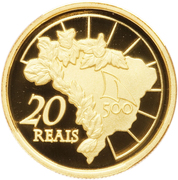 20 Reais (Discovery of Brazil) – reverse