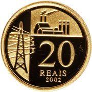 20 Reais (Juscelino Kubitschek) – reverse
