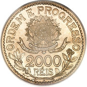 2000 Réis (no dashes between stars) – reverse