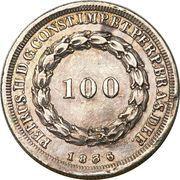 100 Réis - Pedro II – obverse