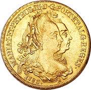 6400 Reis - Maria I & Pedro III – obverse