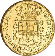 4000 Réis - José I – obverse
