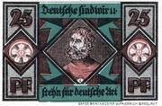 25 Pfennig (Schlesische Lutherfestspiele) – reverse