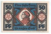 50 Pfennig (Schlesische Lutherfestspiele) – reverse