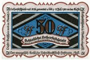 50 Pfennig (Schlesische Lutherfestspiele) – obverse