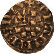 Denier à l'écu de Dreux et au franc Quartier de Bretagne - Jean II – obverse