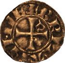 Denier à l'écu de Dreux et au franc Quartier de Bretagne - Jean II – reverse
