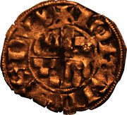 Denier à l'écu écartelé de Bretagne et de Dreux - Jean III le Bon – obverse