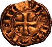 Denier à l'écu écartelé de Bretagne et de Dreux - Jean III le Bon – reverse