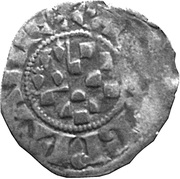 Denier - Arthur II (shield of Dreux with a Britanny quarter) – obverse